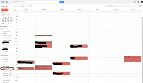 Your Google Calendar Before Highlighting PDR Events